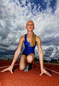 Athlete start — Stock Photo