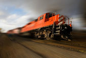 Speeding locomotive — Stock Photo
