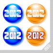 Stock Vector: 2012 new year