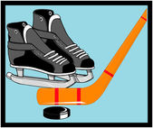 Ice Hockey Equipment Smybol — Stock Vector