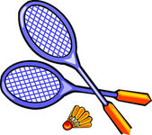 Badminton Rackets — Stock Vector