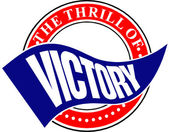 The Thrill of Victory Banner — Stock Vector