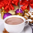 Hot chocolate and cookies — Stock Photo #7260392
