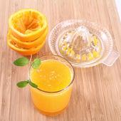 Świeżego soku pomarańczowego — Zdjęcie stockowe
