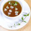 Green tea with peppermint - Stock fotografie