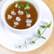 Green tea with peppermint - Stok fotoğraf