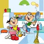 Fun kitchen — Stock Vector #7688612