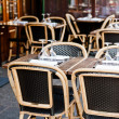 Street view of a Cafe terrace with tables and chairs,paris Franc — Stock Photo #6978561