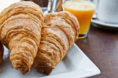 Fresh croissan on table ,Delicious! — Stock Photo