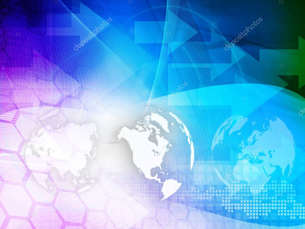 America map technology style artwork for your design — Stock Photo #6977669