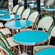 Empty Cafe terrace in paris,France — Stock Photo #7119340