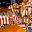 Empty Cafe terrace in paris,France — Stock Photo #7119594