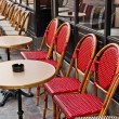 Empty Cafe terrace in paris,France — Stock Photo