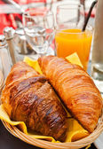 Fresh croissan on table ,Delicious! — Stockfoto