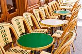 Empty Cafe terrace in paris,France — Stock Photo