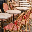 Empty Cafe terrace in paris — Stock Photo #7209804