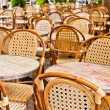 Empty Cafe terrace in paris — Stock Photo #7209866