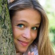 Beautiful smiling young attractive woman portrait — Stock Photo