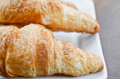 Fresh croissant on table ,Delicious! — Stockfoto