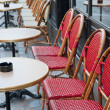 Empty Cafe terrace - Stock Photo