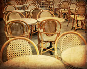 Empty Cafe terrace — Stock Photo