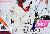 Staré plakáty grunge textur a pozadí — Stock fotografie