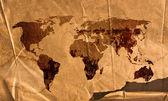 Welt karte vintage bildmaterial — Stockfoto