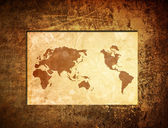 Scratch vintage world map — 图库照片