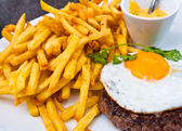 Egg and fries — Stock Photo