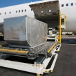 Stock Photo: Loading cargo plane