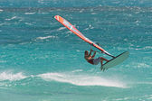 Windsurf in the waves — Stock Photo