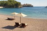 Private beach - Montenegro — Stock Photo