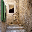 Narrow alley in Ulcinj - Montenegro — Stock Photo