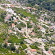 Aerial view on small Balkans village - Montenegro — Stock Photo