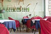 Puste restauracja stół - czarnogóra — Zdjęcie stockowe