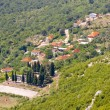 Aerial view on small village in Montenegro — Stock Photo