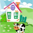 Royalty-Free Stock Vector Image: Farm landscape - vector