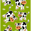 Crazy cows — Stock Vector