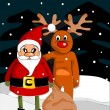 Royalty-Free Stock Vector Image: Santa Claus and reindeer