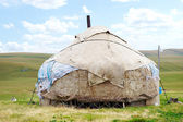 Dwelling of the nomad in mountains of Kazakhstan — Stock Photo