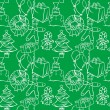 Seamless background with christmass items — Image vectorielle