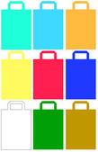 Bolsas de papel colorido — Vector de stock
