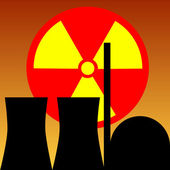 Nuclear power station — Stock Vector