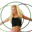 Stock Photo: Woman with hula hoops