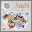 Sushi and  traditional japanese food — Foto de Stock