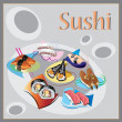 Stock Photo: Sushi and traditional japanese food