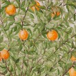 Royalty-Free Stock Photo: Portuguese mosaic azulejos - oranges