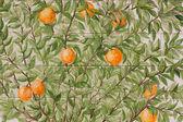 Portuguese mosaic azulejos - oranges — Stock Photo