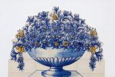 Portuguese mosaic azulejos — Stock Photo