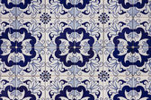 Portuguese mosaic azulejo — Stock Photo